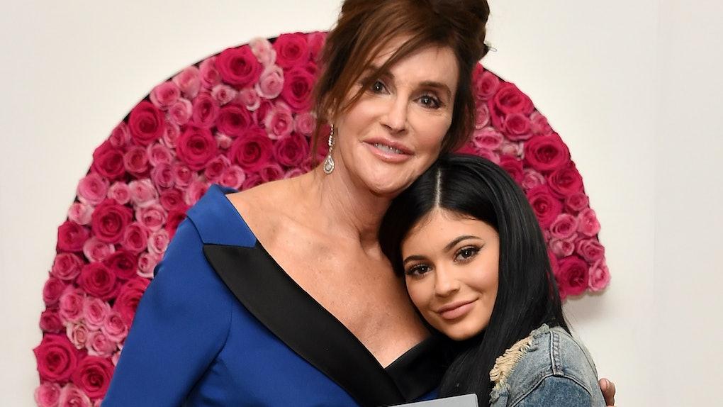 Kylie Jenner hugs dad Caitlyn Jenner.