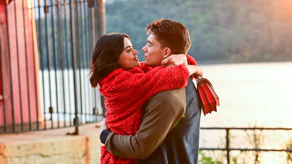 Zane Holtz and Lucy Hale on 'Katy Keene'