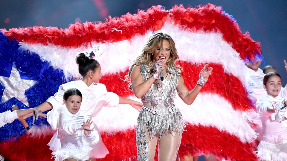 Jennifer Lopez took to social media on Tuesday to reflect on her Super Bowl halftime performance, which featured a number of subtle political messages.