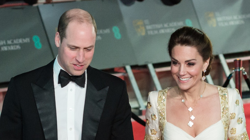 Prince William and Kate Middleton attend the 2020 BAFTA Awards.