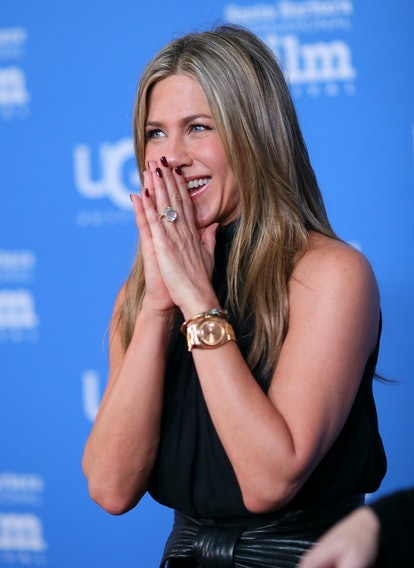 Jennifer Aniston's favorite nail colors include classic shades like dark red