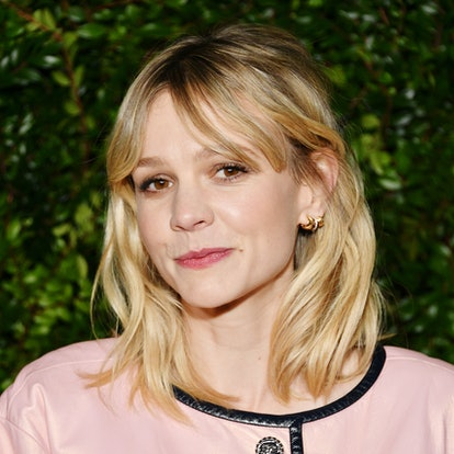 Carey Mulligan gives the classic bob an upgrade with curtain bangs