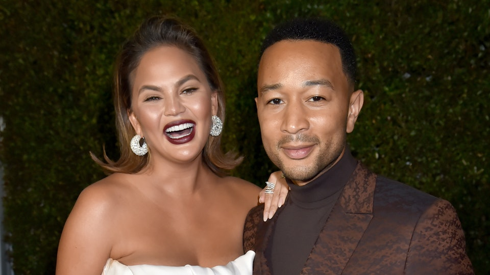 Chrissy Teigen recently received leggings with John Legend's face on the butt.