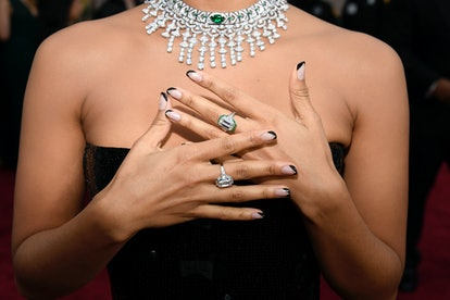 Black Nails At The 2020 Oscars Were An Unexpectedly Perfect Complement To The Gowns Zazie Beetz