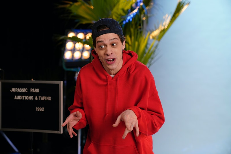Pete Davidson dressed in drag with RuPaul on 'Saturday Night Live.'