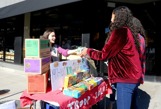Girl Scout cookie season ends April 1, so scouts may start selling less and less through the month of March.