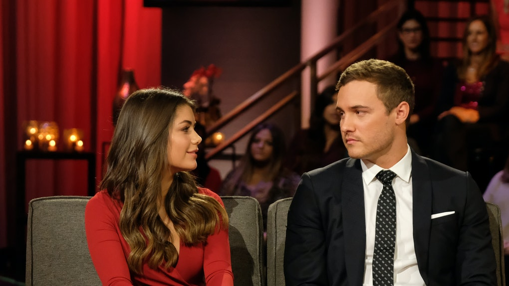"Hannah Ann Sluss and Peter Weber talk on ""After The Rose"" to discuss their ""Bachelor"" engagement then breakup."