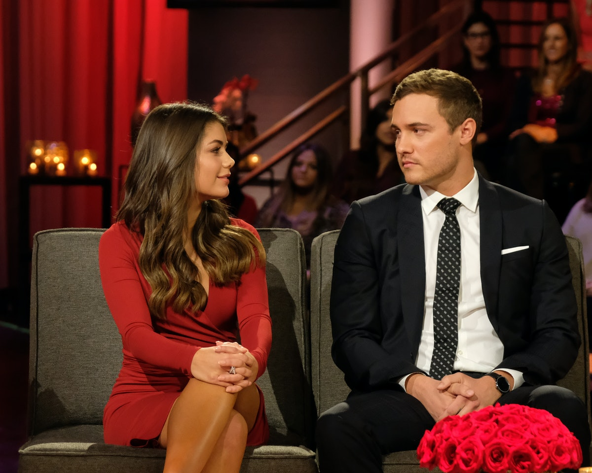"""Hannah Ann Sluss and Peter Weber talk on """"After The Rose"""" to discuss their """"Bachelor"""" engagement then breakup."""
