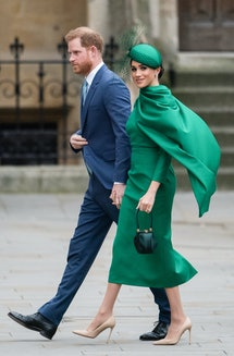 Meghan Markle wore a green dress similar to one of Princess Diana's