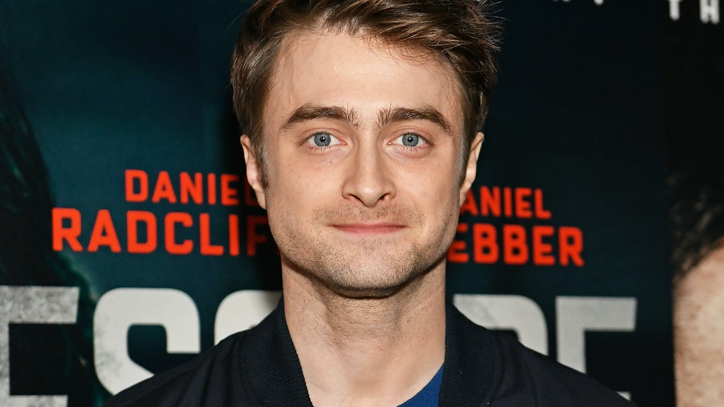 Daniel Radcliffe attends a movie premiere.