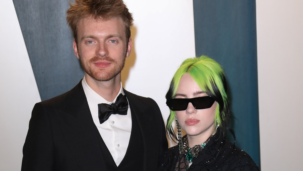 Finneas and Billie Eilish attend a Vanity Fair party.