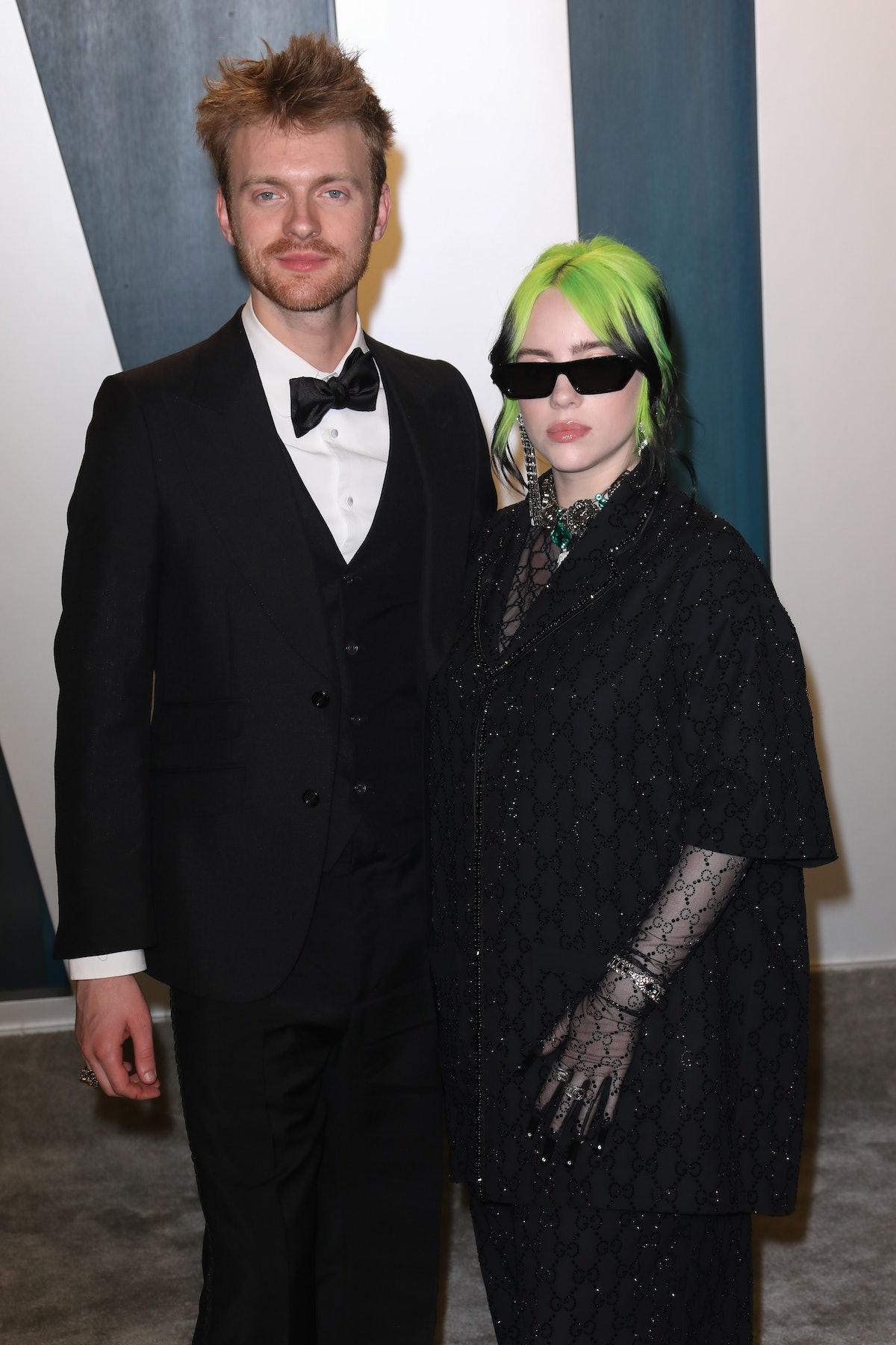 Finneas and Billie Eilish attend a Vanity Fair party.