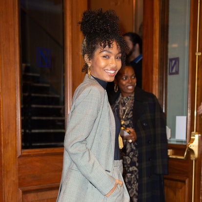 Yara Shahidi's front bun is the ultimate lazy-day hairstyle