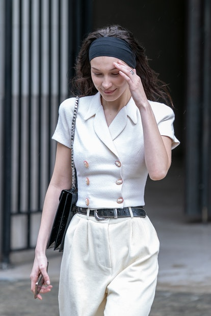 Bella Hadid's headband is the ultimate lazy-day hairstyle