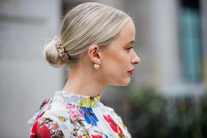 Spring 2020 Hair Accessory Trend: Silk Scrunchies.