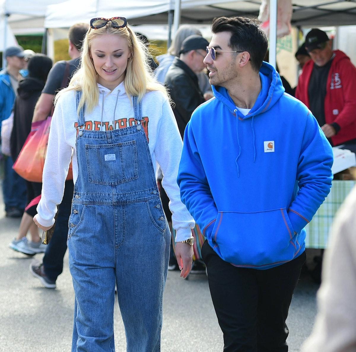 Joe Jonas and Sophie Turner take a stroll.