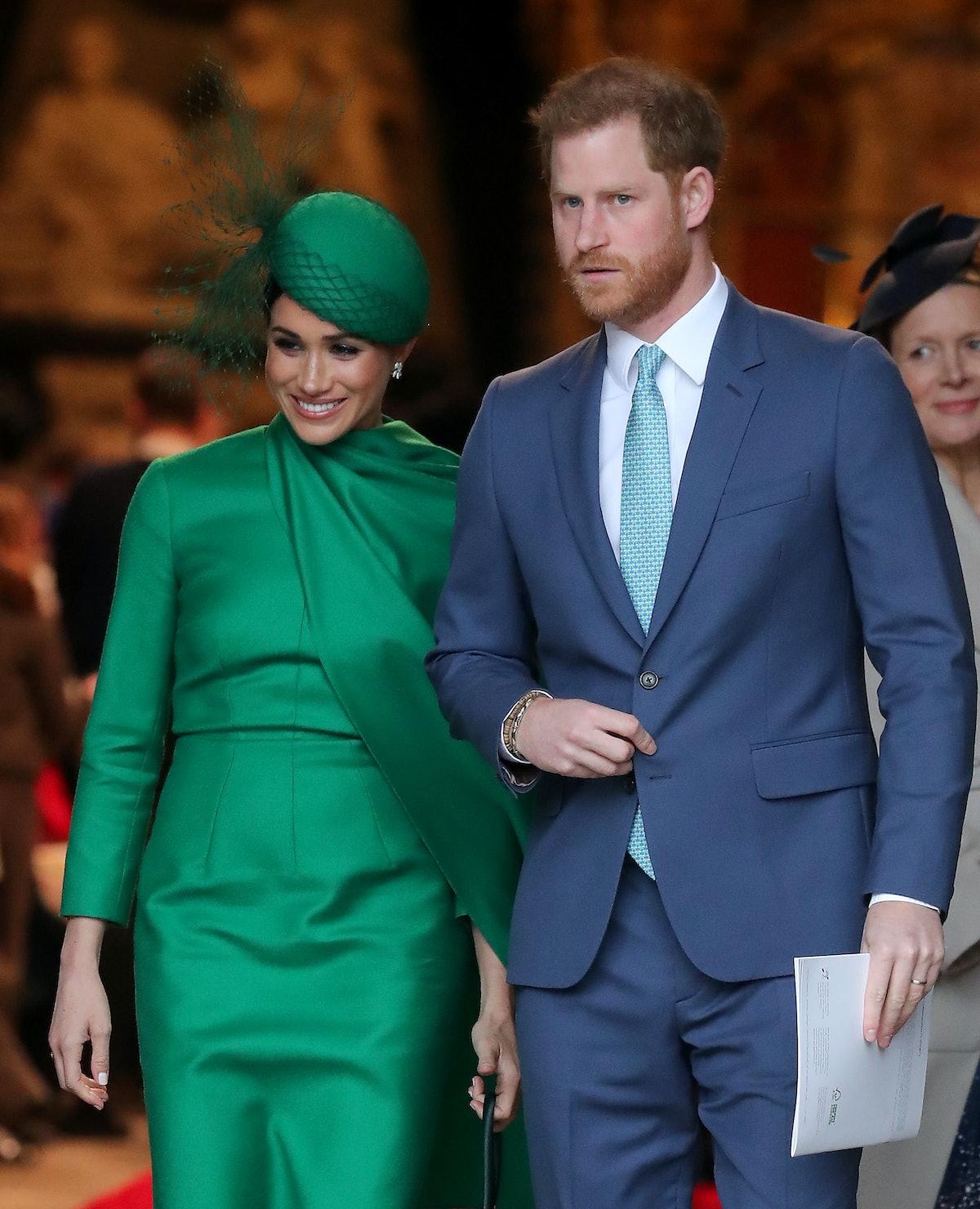 Meghan Markle and Prince Harry make a public appearance.