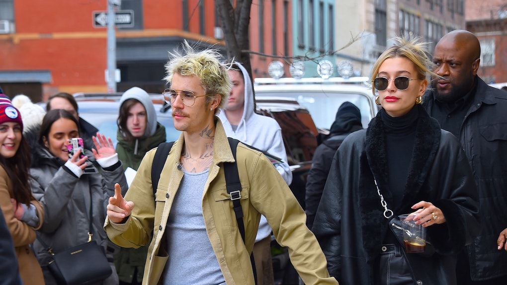 Justin Bieber and Hailey Baldwin step out hand in hand.
