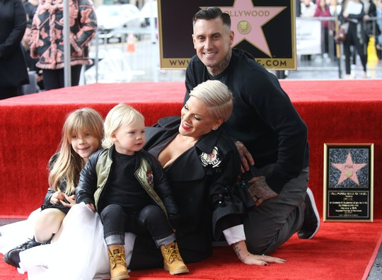 Pink shared on Instagram that she has developed her own schedule for her two kids as they go through social distancing during COVID-19.