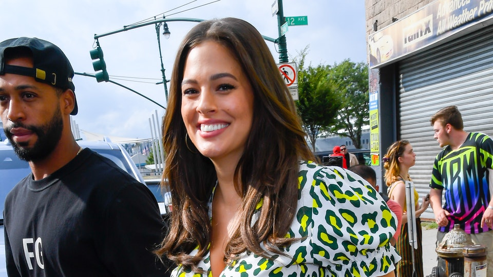 """Ashley Graham experienced her first """"diaper blow up"""" in the most inconvenient place."""