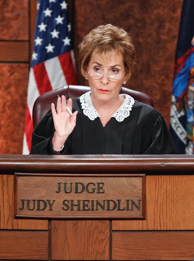 Jude Judy coutroom judgemental.