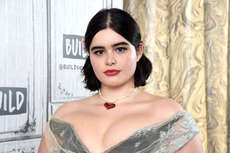 Barbie Ferreira's blue eyeshadow at the Givenchy Fall/Winter 2020 show was so very 1980s