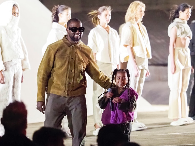 North West Performed At Kanye West's Yeezy Fashion Show In Paris