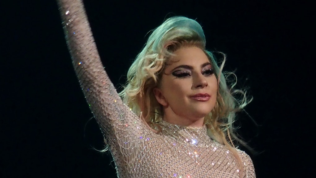 Lady Gaga performs live.