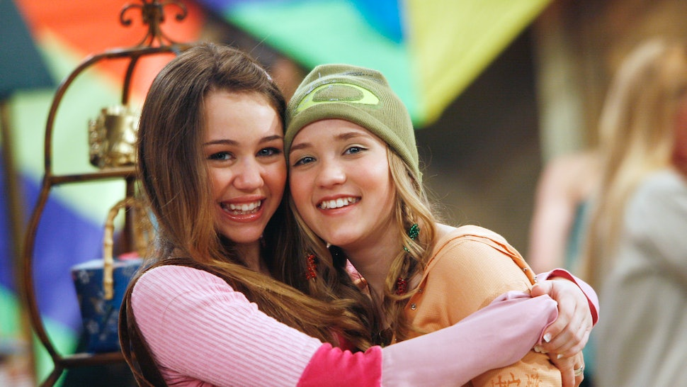 Miley Cyrus and Emily Osment in Hannah Montana