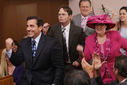 Steve Carell, Rainn Wilson, and Phyllis Smith on NBC's 'The Office.'