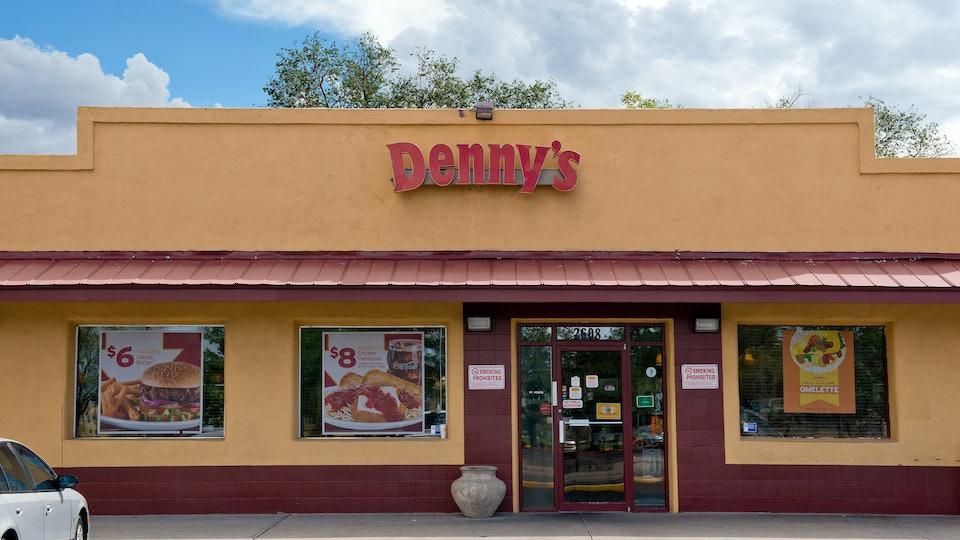 a denny's storefront