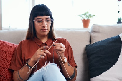 Experts say even knitting during a crisis is a way of feeling self-sufficient.