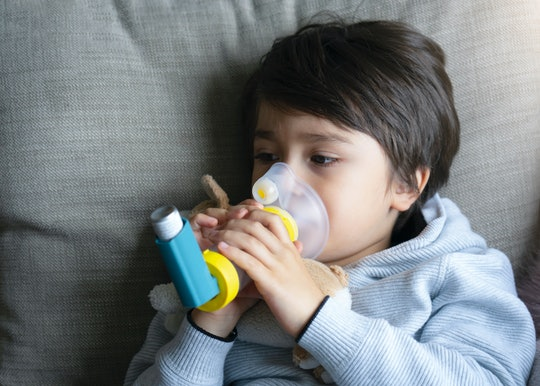 Is Coronavirus More Dangerous In Kids With Asthma? Kid using inhaler