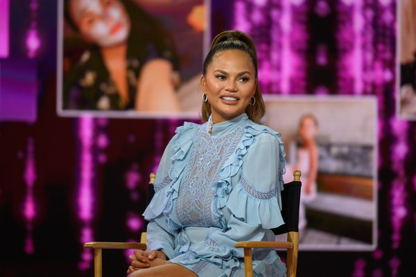 Chrissy Teigen makes a television appearance.