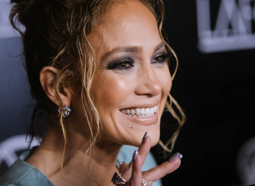 J.Lo's favorite nail polish colors include a lot of sparkle and shine