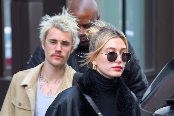 Justin and Hailey Bieber take a stroll.
