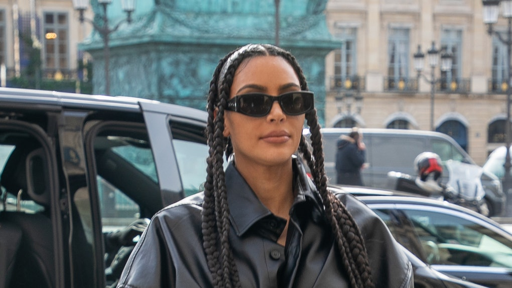 Kim Kardashian steps out during Paris Fashion Week.
