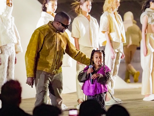 North West rapped onstage at Paris Fashion Week