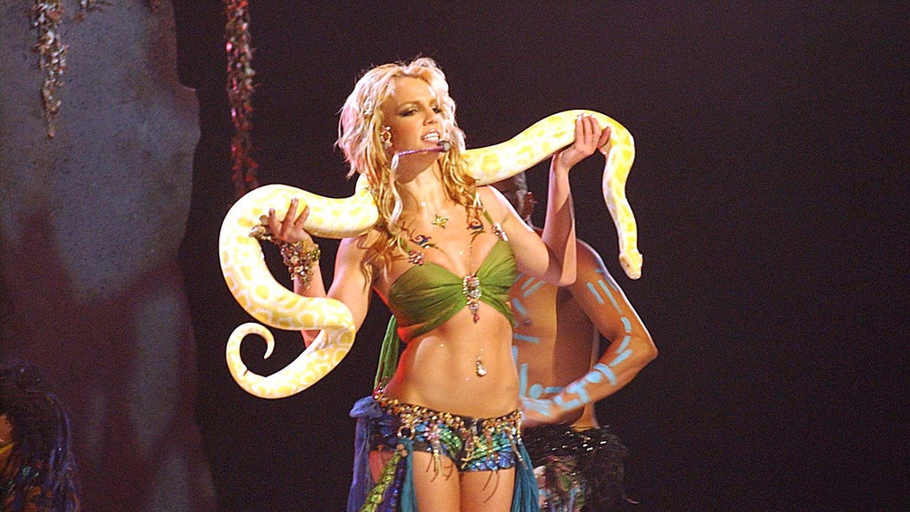Doc Antle from 'Tiger King' appeared in Britney Spears' 2001 VMAs performance.
