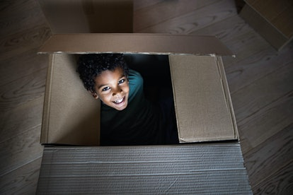 Jumping out of a box and scaring your parents for April Fools' Day still counts as a prank.