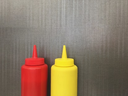 Try switching condiments to prank your parents on April Fools Day.