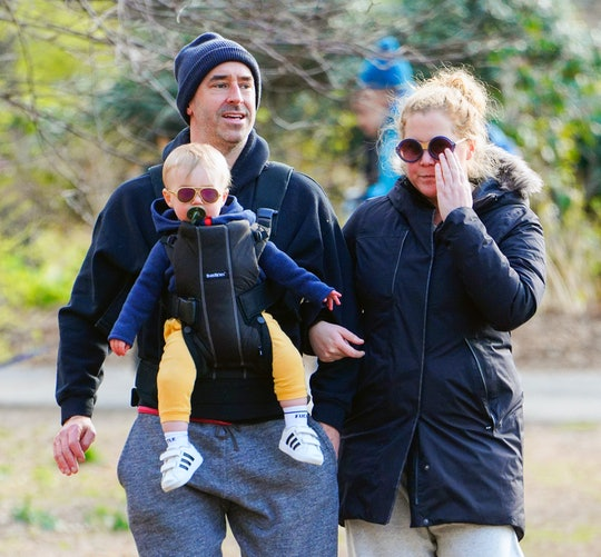 Amy Schumer visited her dad with baby Gene.