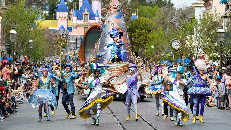 Disneyland is offering virtual parades for people to watch at home.