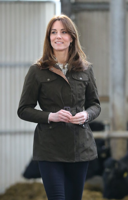 One of Kate Middleton's best haircuts is when it was chest length and with curtain bangs