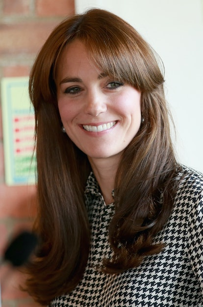 One of Kate Middleton's best haircuts is when it was chest length with bangs