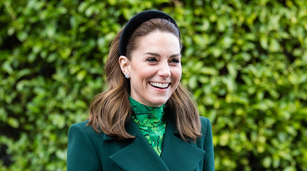 Kate Middleton debuts New Curtain Bangs after pushing them back with a headband