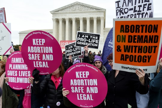 The Supreme Court is set to hear arguments in the first major abortion access case it will tackle un...