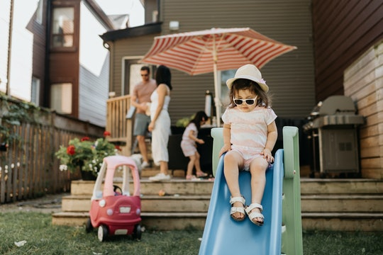Experts say you'll want to make sure the slide is the right size for your toddler.