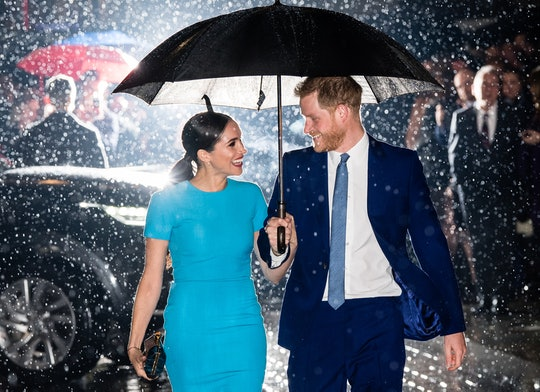 Meghan Markle and Prince Harry were all smiles at their first royal appearance together since announ...