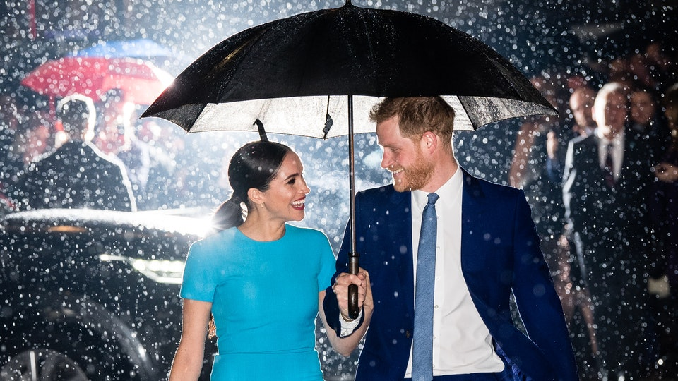 Meghan Markle and Prince Harry were all smiles at their first royal appearance together since announcing their plans to step back from their senior roles as royals.